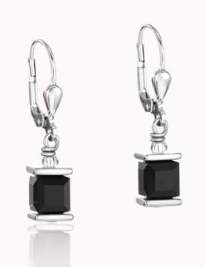 boucles-d-oreilles-pendantes-cristal-noir-acier-coeur-de-lion-0094201300