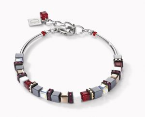 bracelet-coeur-de-lion-geocube-acier-hematite-rose-4977300300