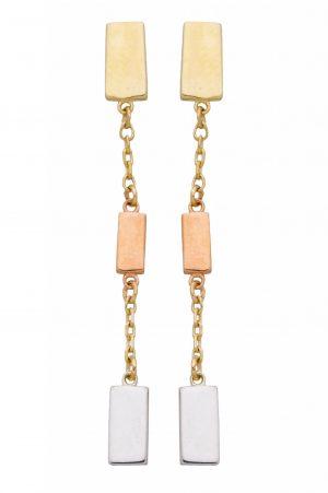 boucles-doreilles-pendantes-or-tricolore-9carats