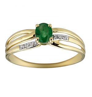 bague-or-jaune-18k-emeraude-diamant