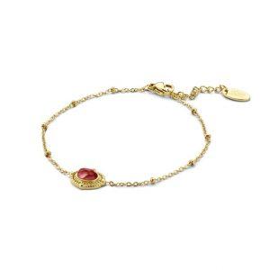 bracelet-acier-dore-pierre-rouge-co88