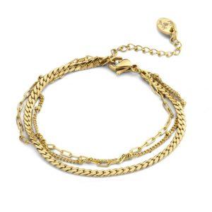 bracelet-acier-3-ranges-dore-co88