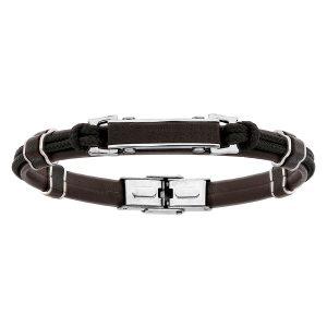 bracelet-homme-acier-cuir-cordon