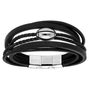 bracelet-homme-cuir-acier-rugby