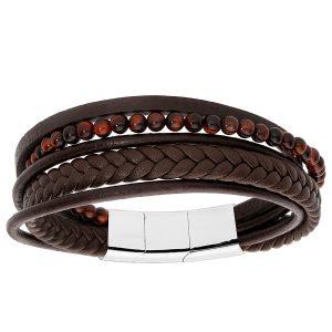 bracelet-homme-cuir-acier-oeil-de-tigre