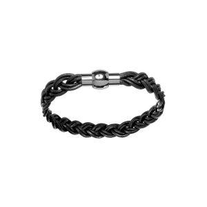 bracelet-homme-cuir-tresse-noir-acier