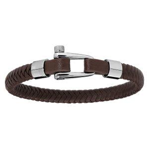 bracelet-homme-cuir-marron-fermoir-visse