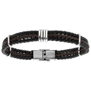 bracelet-homme-cuir-tresse-et-acier