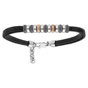 bracelet-homme-acier-cuir-
