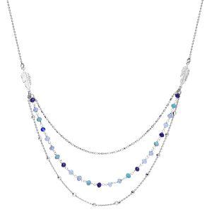 bijou-collier*argent-3-rangs-plumes