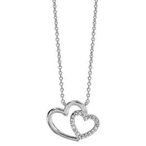 bijou-collier-double-cœur-femme-argent-oxydes-