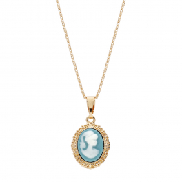 collier-plaque-or-camee-bleu