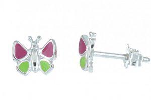 boucles-d-oreilles-argent-enfants-papillon-rose-et-vert