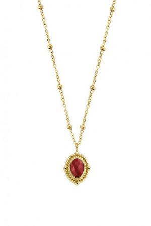 collier-acier-dore-pierre-rouge-co88