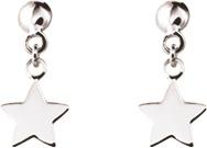 boucles d oreilles or gris 9carats etoiles pendantes