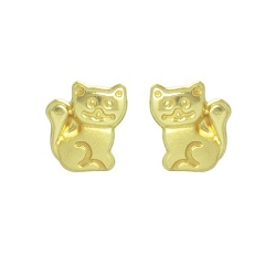 boucles-d-oreilles-or-9-carats-chat-vis