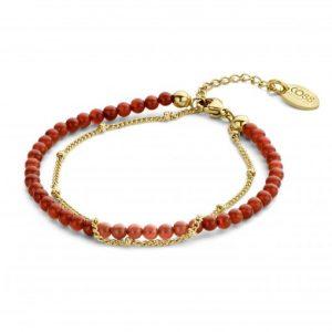 bracelet-double-rang-acier-agate-rouge-co88