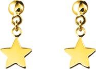 boucles d oreilles or jaune 9carats etoiles pendantes