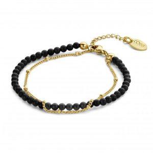 bracelet-double-rang-acier-agate-noire-co88