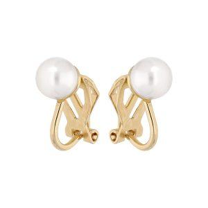 boucles-d-oreilles-clips-plaque-or-perle-imitation