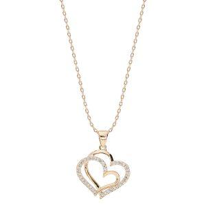 bijou-femme-collier-plaqué-or-double-coeur