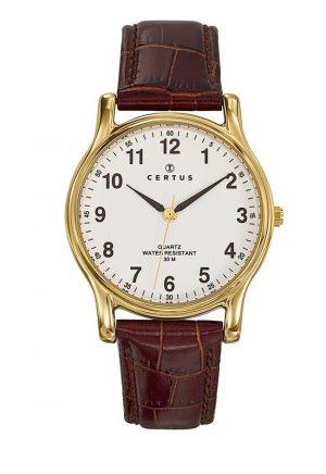 montre-doree-homme-certus-cuir-611231