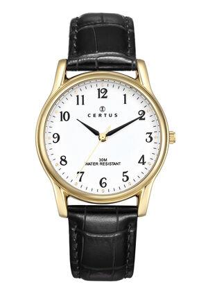 montre-doree-homme-certus-cuir-611240