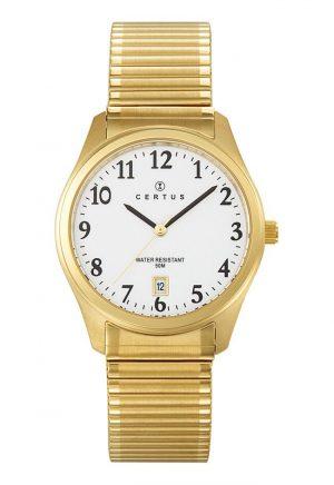 montre-homme-bracelet-extensible-acier-dore-617001