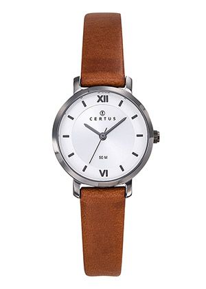 montre-dame-ronde-bracelet-cuir-644434
