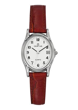 montre-dame-ovale-date-bracelet-cuir-644523